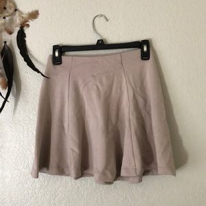Creme colored comfy skater skirt